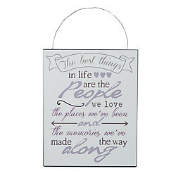The Best Things In Life Hanging Plaque (W)20cm