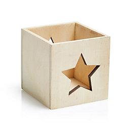 Star Wood Tea Light Holder
