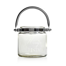 Merry Christmas Glass Jar