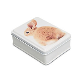 Multicolour Bunny Metal Tin, Small