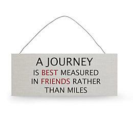 'A Journey Is Best Measured' Multicolour Plaque (W)30cm