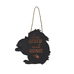 Slate Look Typography Hanging Plaque