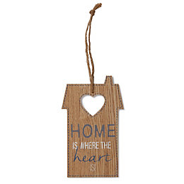 House 'Home Is Where The Heart Is' Wood