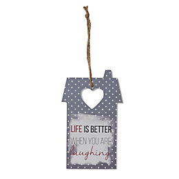 Grey House 'Life Is Better' Wood Plaque