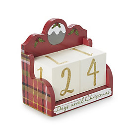 Red Painted Christmas Countdown Calendar