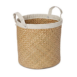 Cream Straw Basket