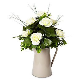 Taupe Roses Artificial Floral Arrangement
