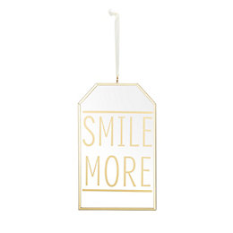Smile More Gold Effect Plaque (W)124mm (H)203mm