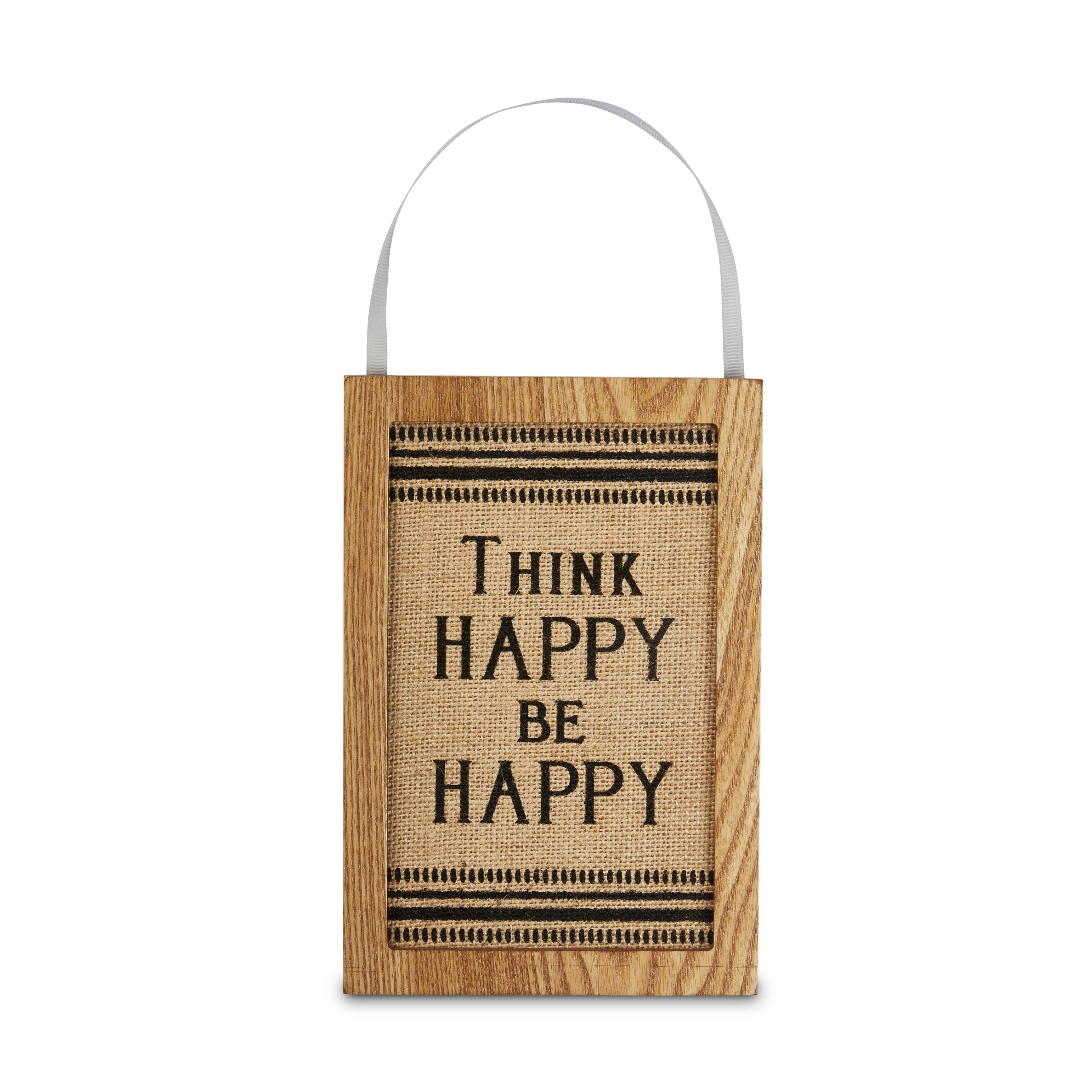 Think Happy Be Happy Plaque (w)135mm (h)200mm