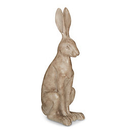 Grey Sitting Hare Ornament