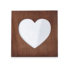 Heart Wood Frame (H)140mm x (W)140mm