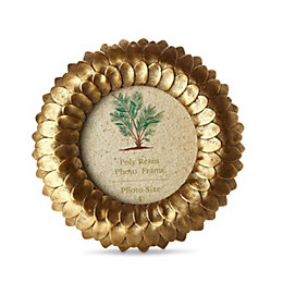 Gold Effect Foliage Frame (H)165mm x (W)165mm