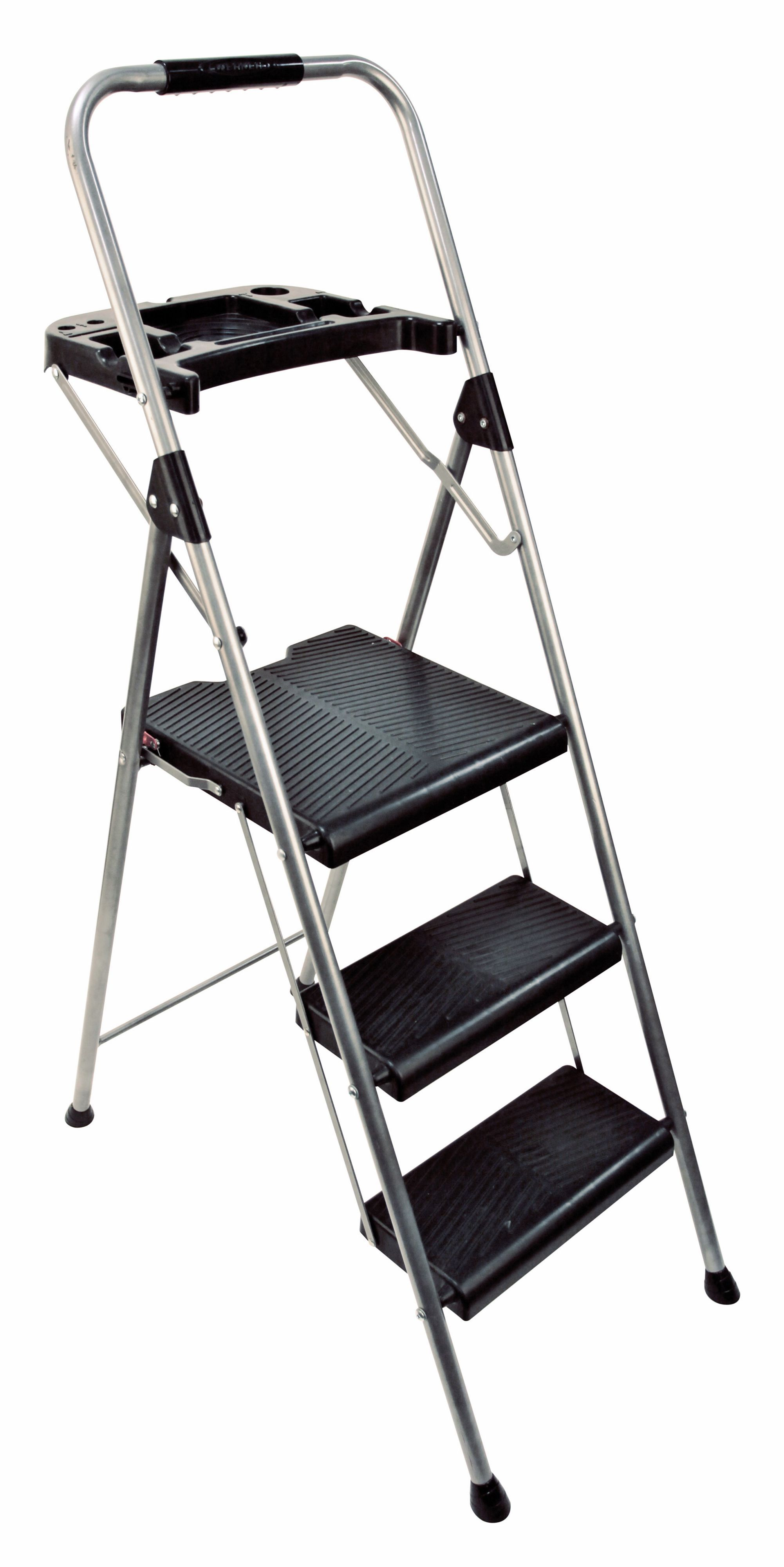 Abru 3 tread steel project ladder departments diy at b q for Ladder project