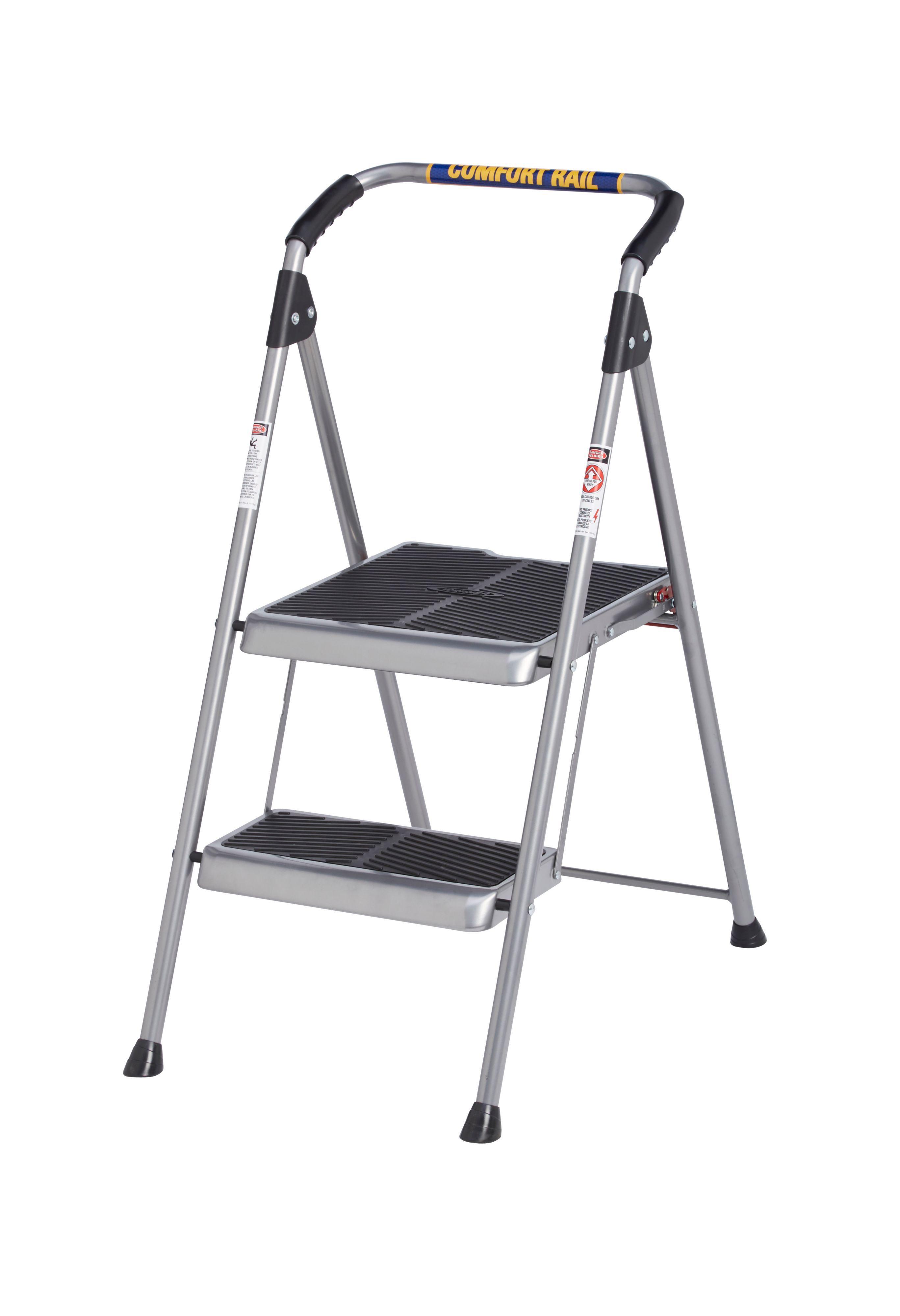 sc 1 st  Bu0026Q & Werner 2 Tread Steel Step Stool | Departments | DIY at Bu0026Q islam-shia.org