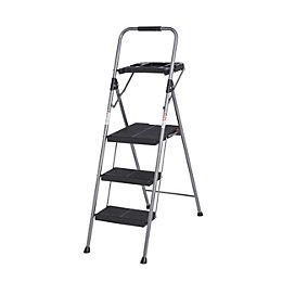 Werner 3 Tread Steel Step Stool, (H)1420mm