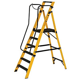 Werner 6 Tread Fibreglass Platform Stepladder, (H)2125mm