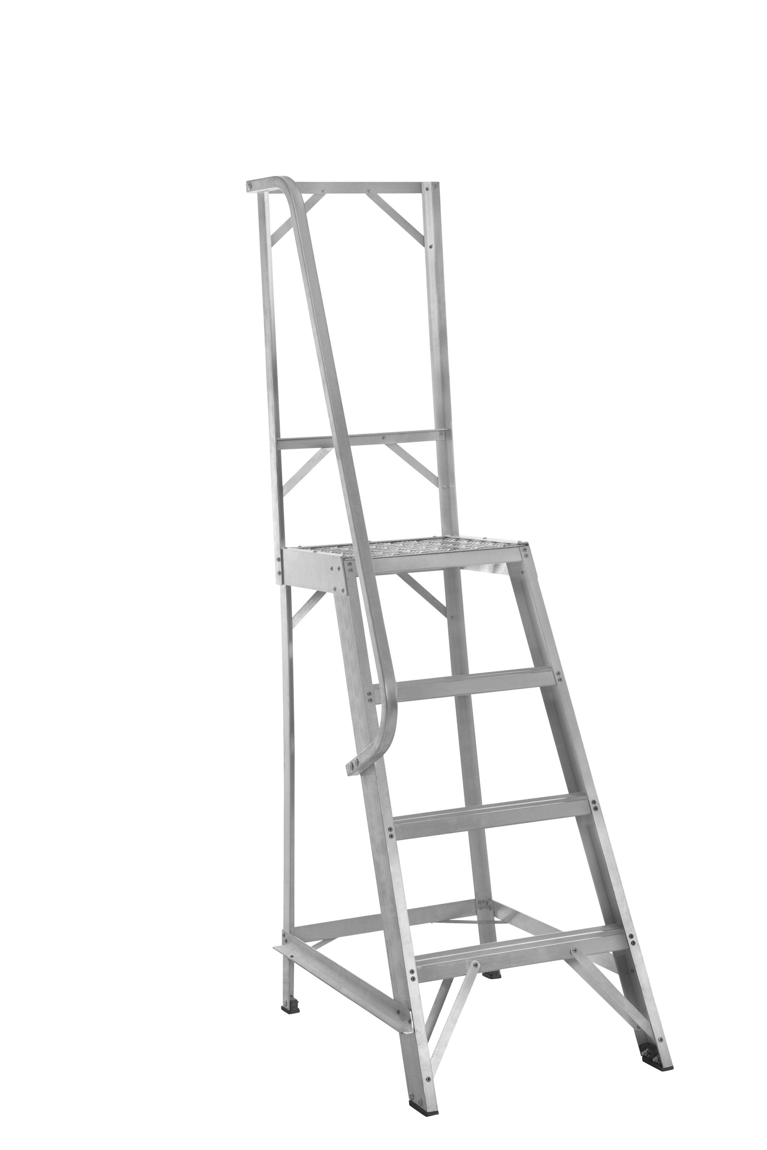 Werner 4 Tread Aluminium Platform Stepladder