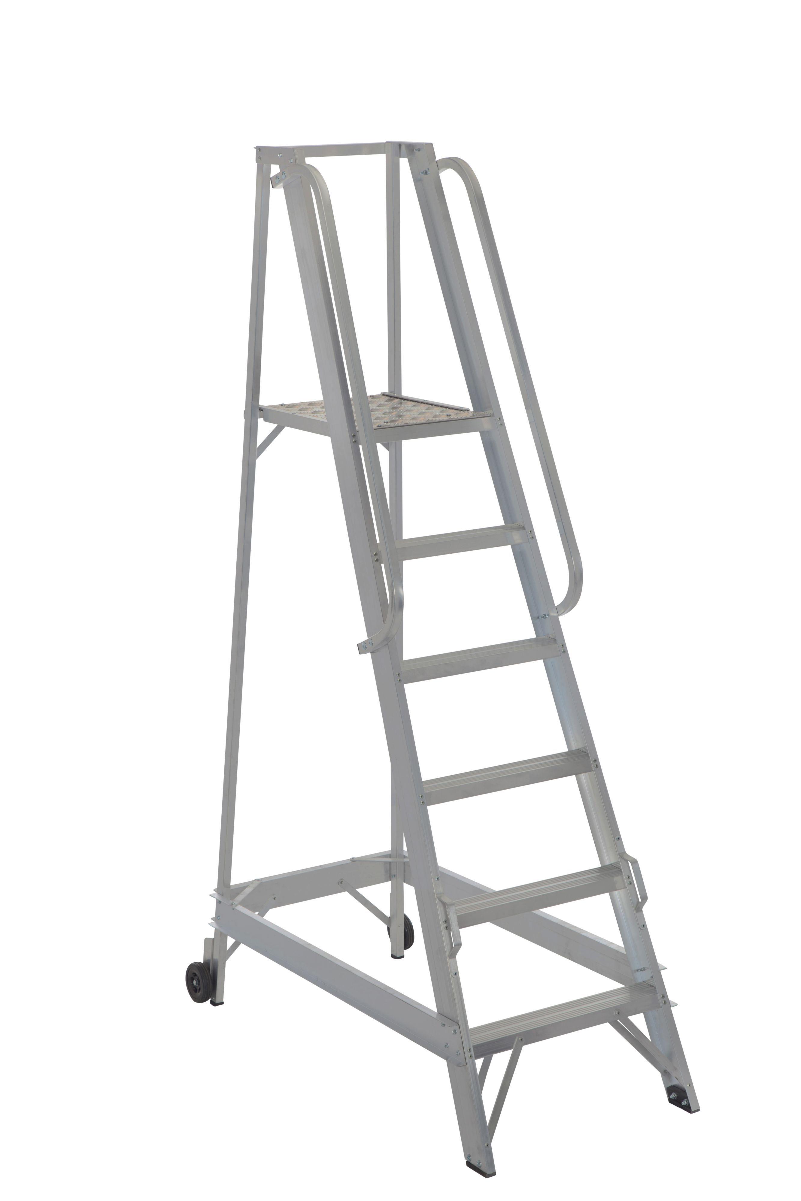 Werner 6 Tread Aluminium Platform Stepladder, 2 M