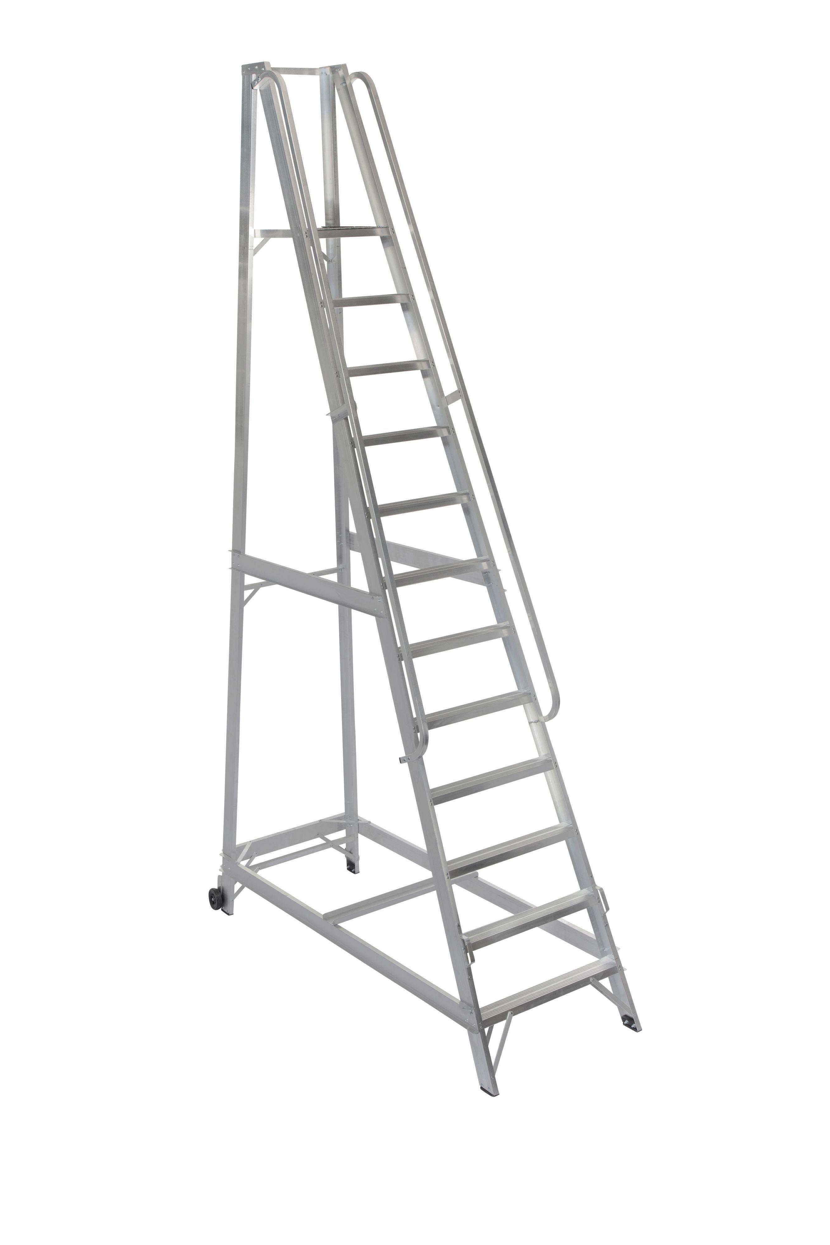 Werner 12 Tread Aluminium Platform Stepladder, 3.5 M