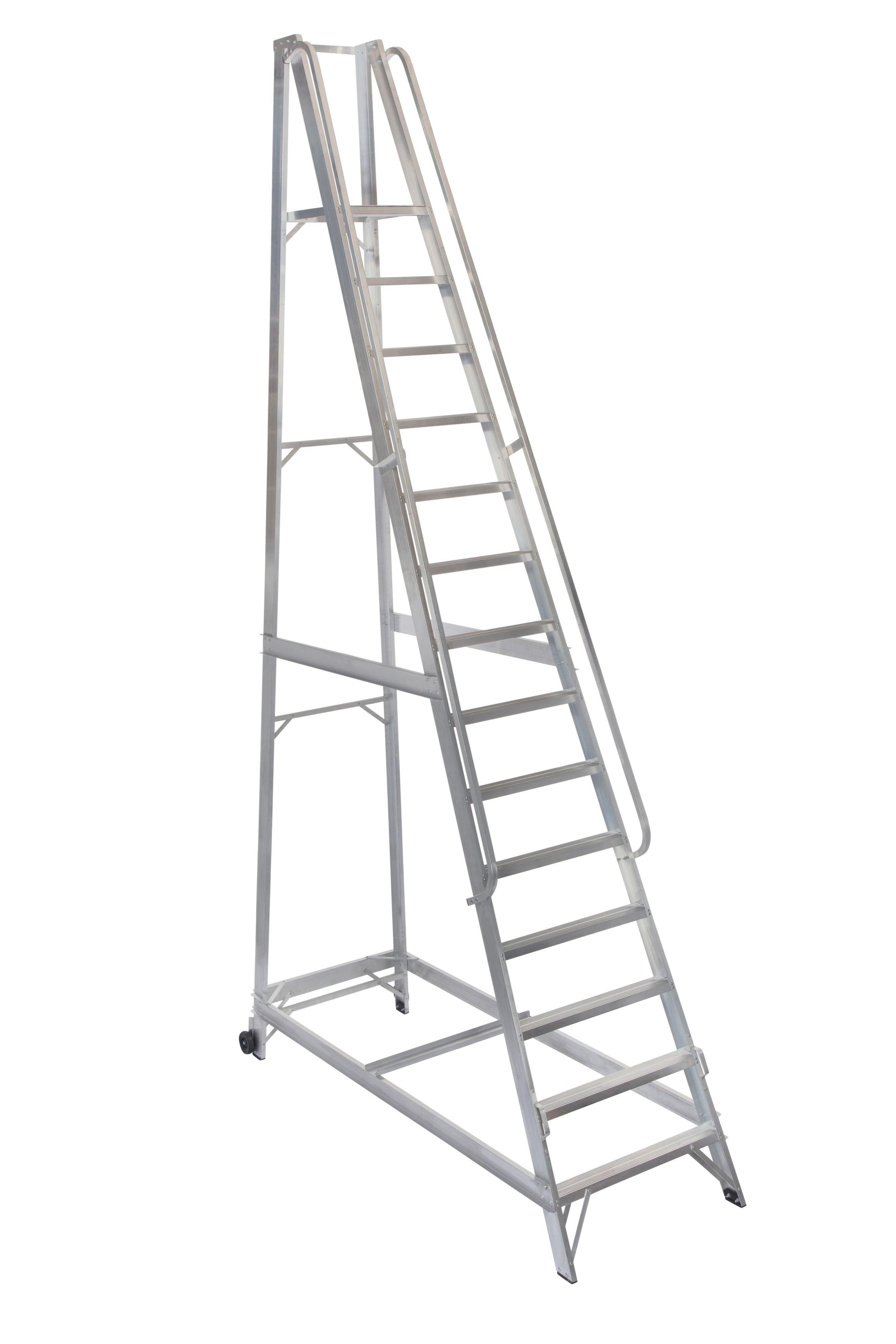 Werner 14 Tread Aluminium Platform Stepladder, 4 M