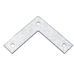 Abru Powder Coated Brown Steel L Bracket