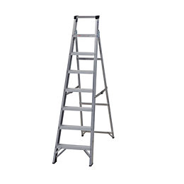 Werner 8 Tread Aluminium Swingback Stepladder, (H)1750mm