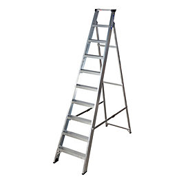 Werner 10 Tread Aluminium Swingback Stepladder, (H)2200mm