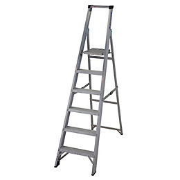 Werner 6 Tread Aluminium Platform Stepladder, (H)1860mm