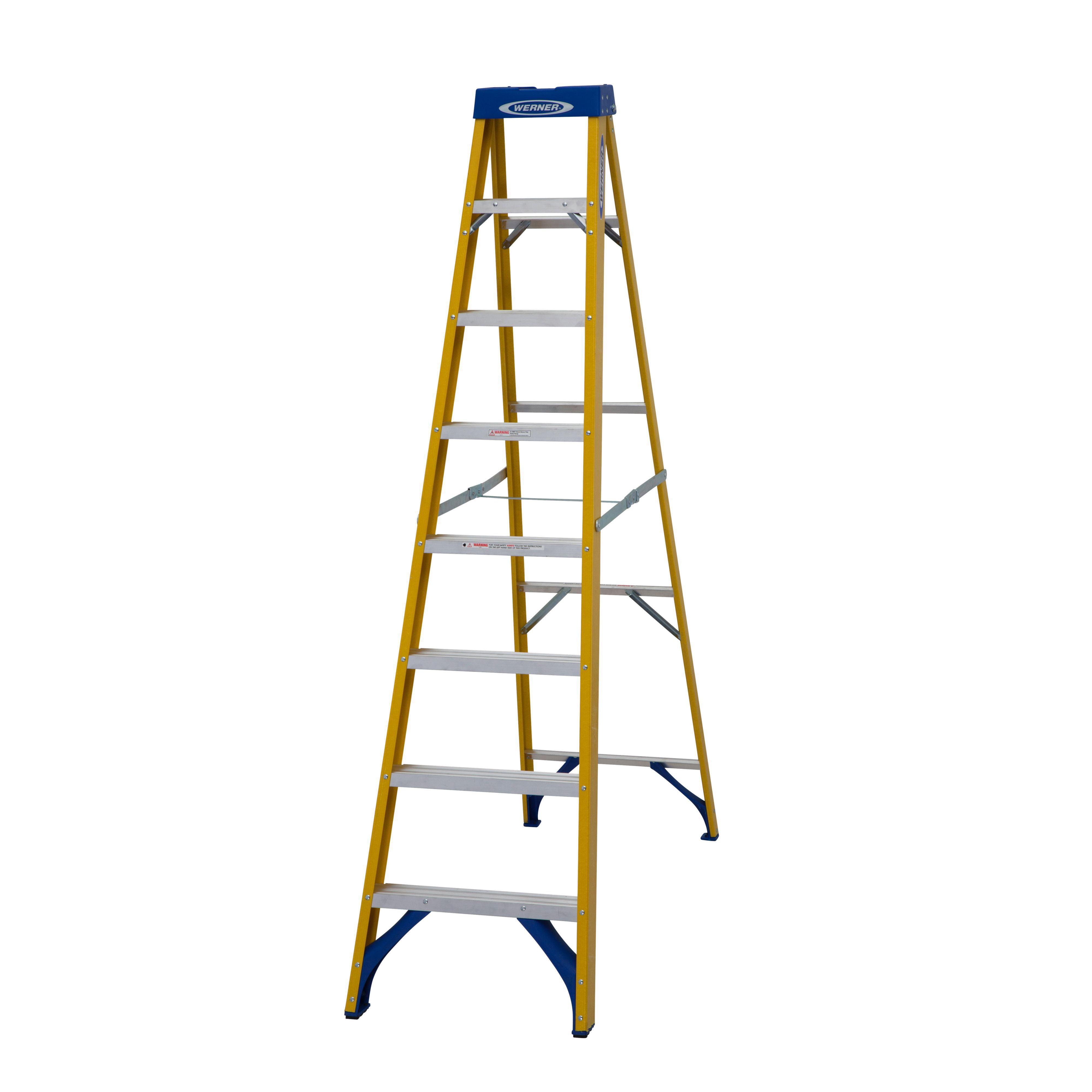 Werner 8 Tread Fibreglass Step Ladder