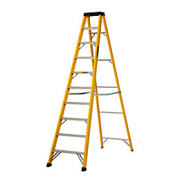 Werner 10 Tread Fibreglass Step Ladder, (H)3.03m