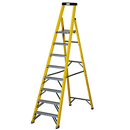 Werner 8 Tread Fibreglass Platform Stepladder