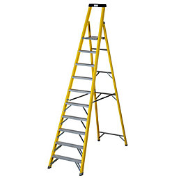 Werner 10 Tread Fibreglass Platform Stepladder