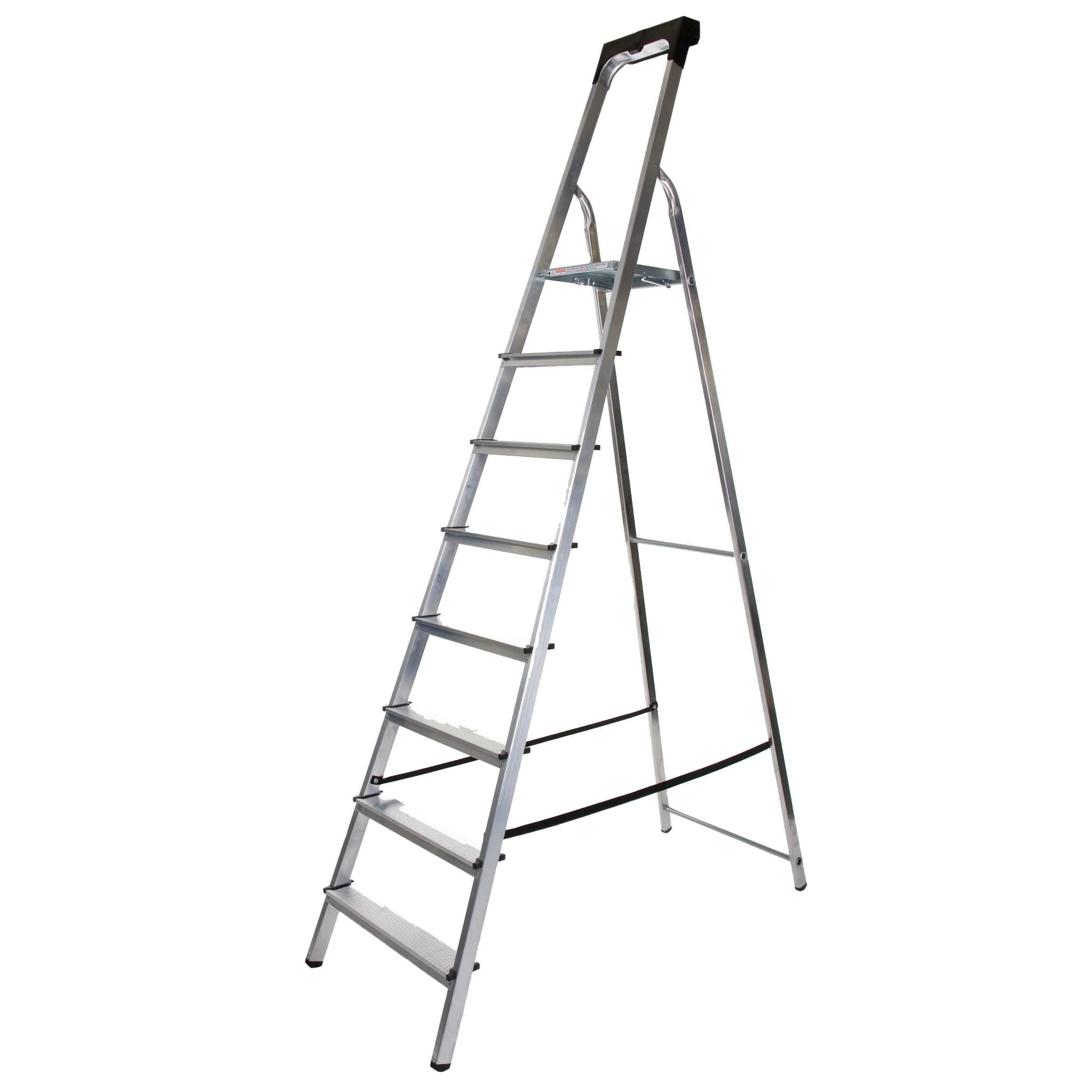 Werner 8 Tread Aluminium Platform Stepladder, 2.3m