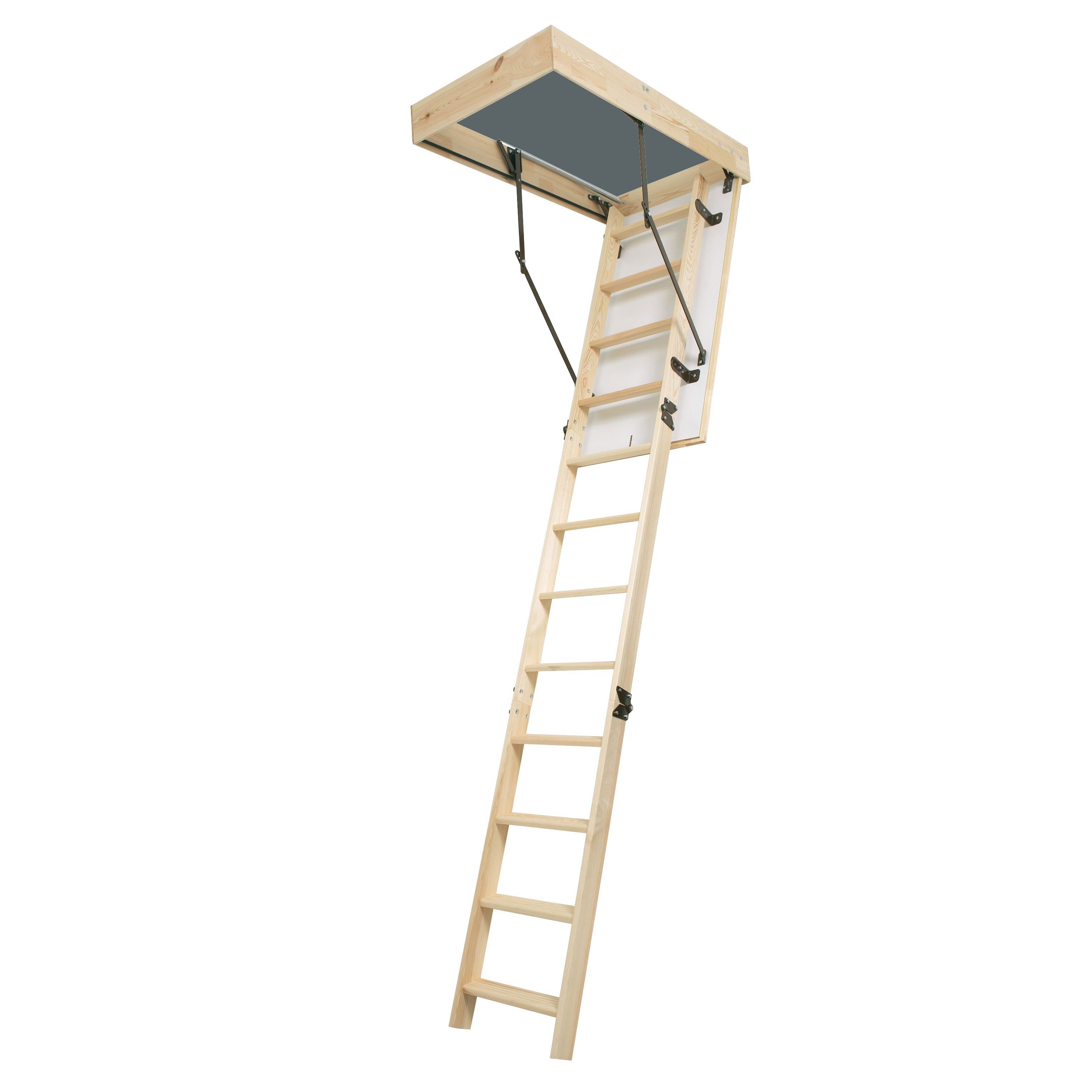 loft hatch and ladder kit. werner 3 section 11 tread folding loft ladder | departments diy at b\u0026q hatch and kit
