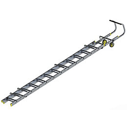 Werner Trade Aluminium & Plastic Double Roof Ladder,