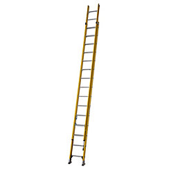 Werner Trade Fibreglass & Aluminium Double Extension Ladder,