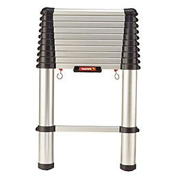 Telesteps Telescopic Aluminium Extension Ladder, (H)3.3M