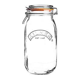 Kilner 1.5L Clear Glass Clip Top Jar