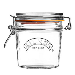 Kilner 350ml Clear Glass Clip Top Jar