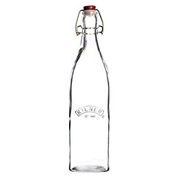 Kilner 550ml Glass Square Clip Top Bottle