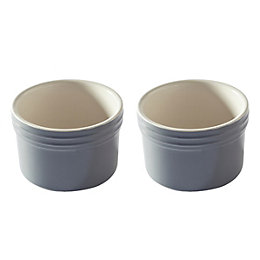 Mason Cash Baker Lane Grey Dessert Dish, Set