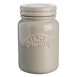 Kilner 600ml Pebble Grey Ceramic Jar