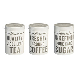 Mason Cash 1L Grey Metal Tea, Coffee &