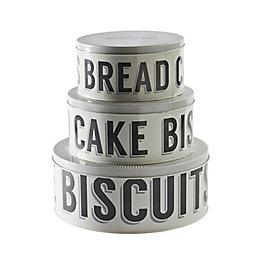 Mason Cash Grey Metal Round Cake Tin, Set