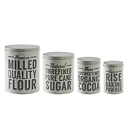 Mason Cash Baker Lane Grey Storage Tin, Set