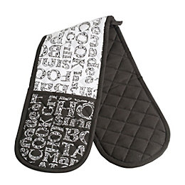 Soho Black & White Double Oven Glove