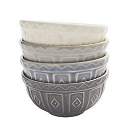 Mason Cash Baker Lane Grey Preparation Bowl, Set