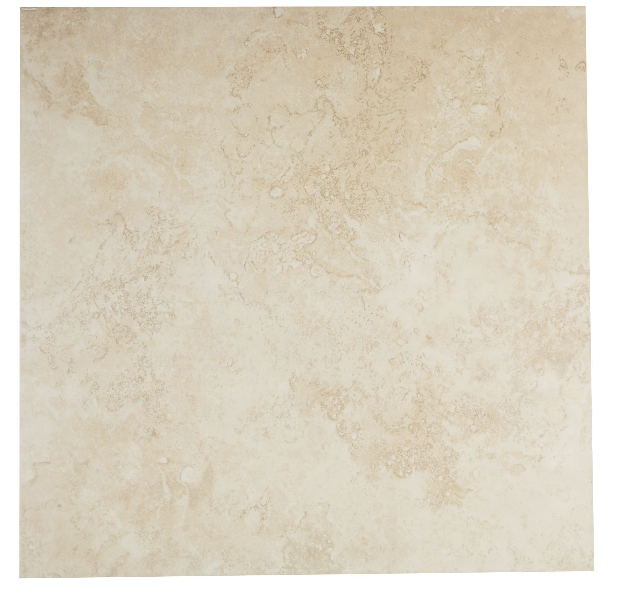 Castle travertine cream stone effect ceramic wall floor tile pack of 5 l 450mm w 450mm Ceramic stone tile