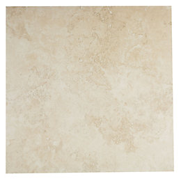 Castle Travertine Cream Ceramic Wall & Floor Tile,