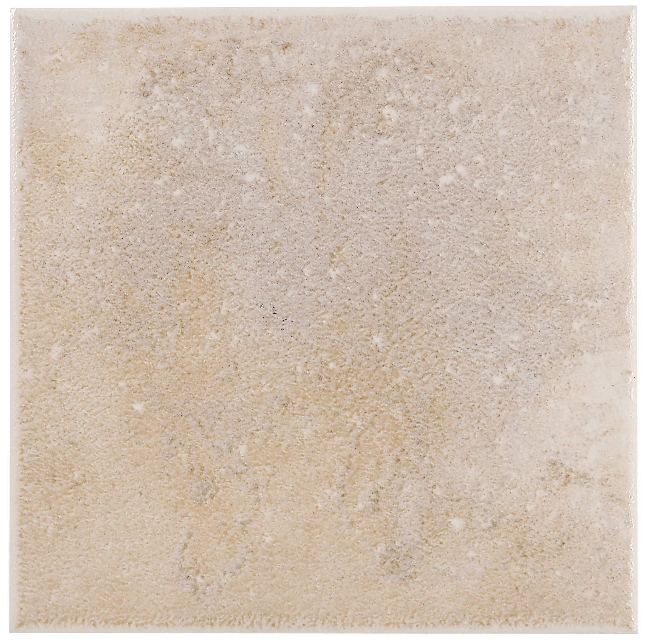 Metallic Cream Porcelain Wall Tile, Pack Of 100, (l)100mm (w)100mm